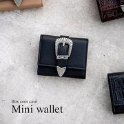 ボックスコイン 三つ折り ミニ財布 [ウエスタン] / レディース ウォレット