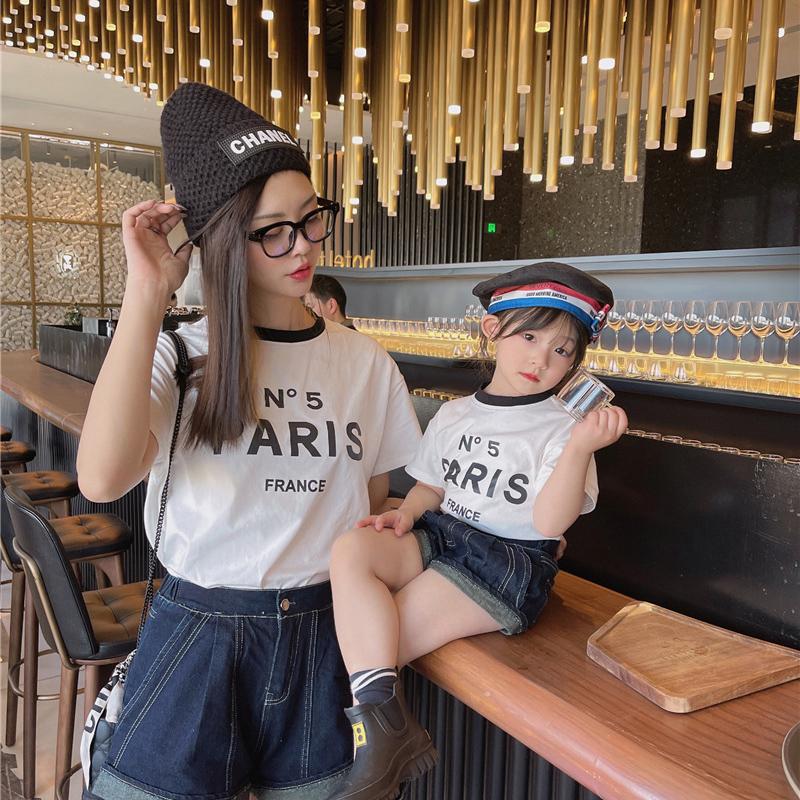 m17248 シャツ T-シャツ 親子服 SALE 韓国子供服 カジュアル 女の子 2021新作