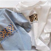 子供シャツ キッズ服 夏 ブラウス  半袖 ヒョウ柄  トップス 男の子 女の子tシャツ カジュアル系