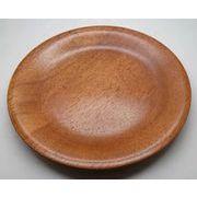 木製・漆塗 木目 中皿 丸プレート