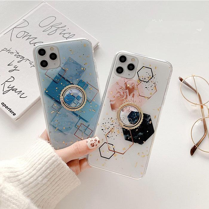 スマホホルダー付き iphone ケース iPhone12 ラメ スマホケース
