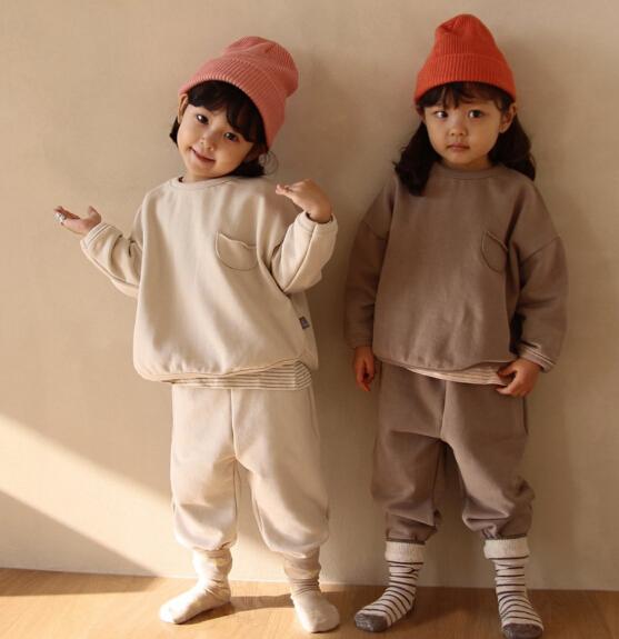 子供服 上下セット トレーナー 韓国風 スポーツ風