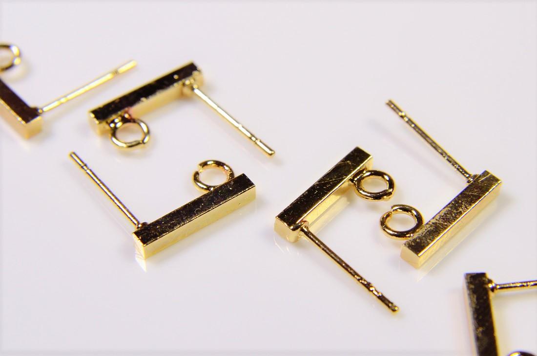 【銅製高品質】イヤリング金具ピアス金具/スティック棒ピアス/基礎金具/トレンドパーツ