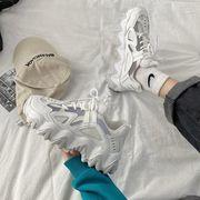 グレー 古い ? 靴 女 秋 新しいデザイン 何でも似合う 通気 厚底 学生 ネット レ