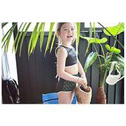 子供水着 キッズ 女の子 ビキニ セパレート 4点セット 80 90 110 120cm 子供用 ガールズ ビキニセット