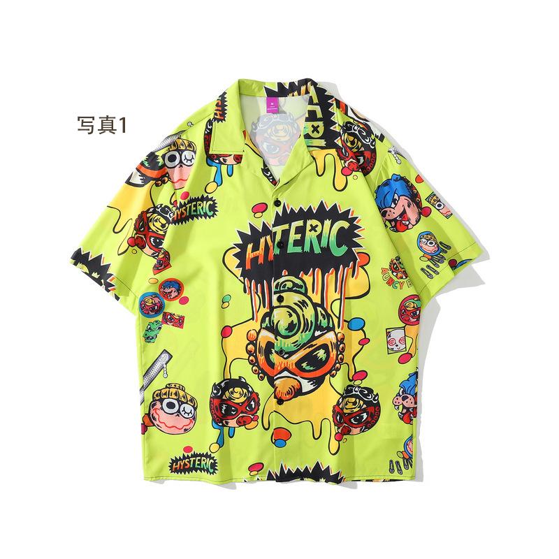 P10160 男女兼用 SALE 半袖 ファッション 紫外線対策 日焼け止め メンズファッション 渋谷風 半袖シャツ
