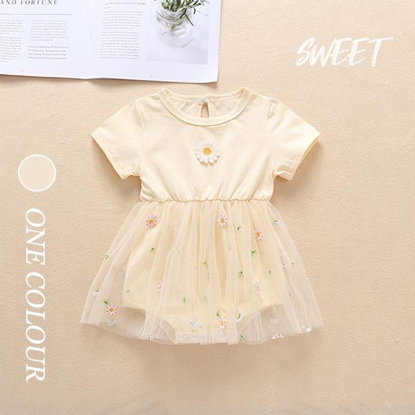 【BABY】コスモス柄半袖チュールスカート