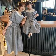 m17683 シャツ 親子服 SALE 韓国子供服 動画あり ワンピース ドレス  カジュアル  女の子 2021新作