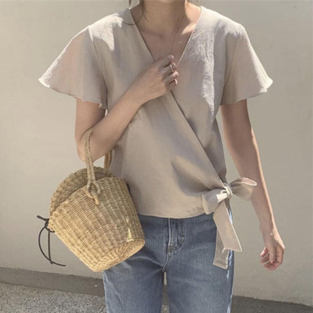 韓国風 おしゃれ Yシャツ ゆったり カジュアル