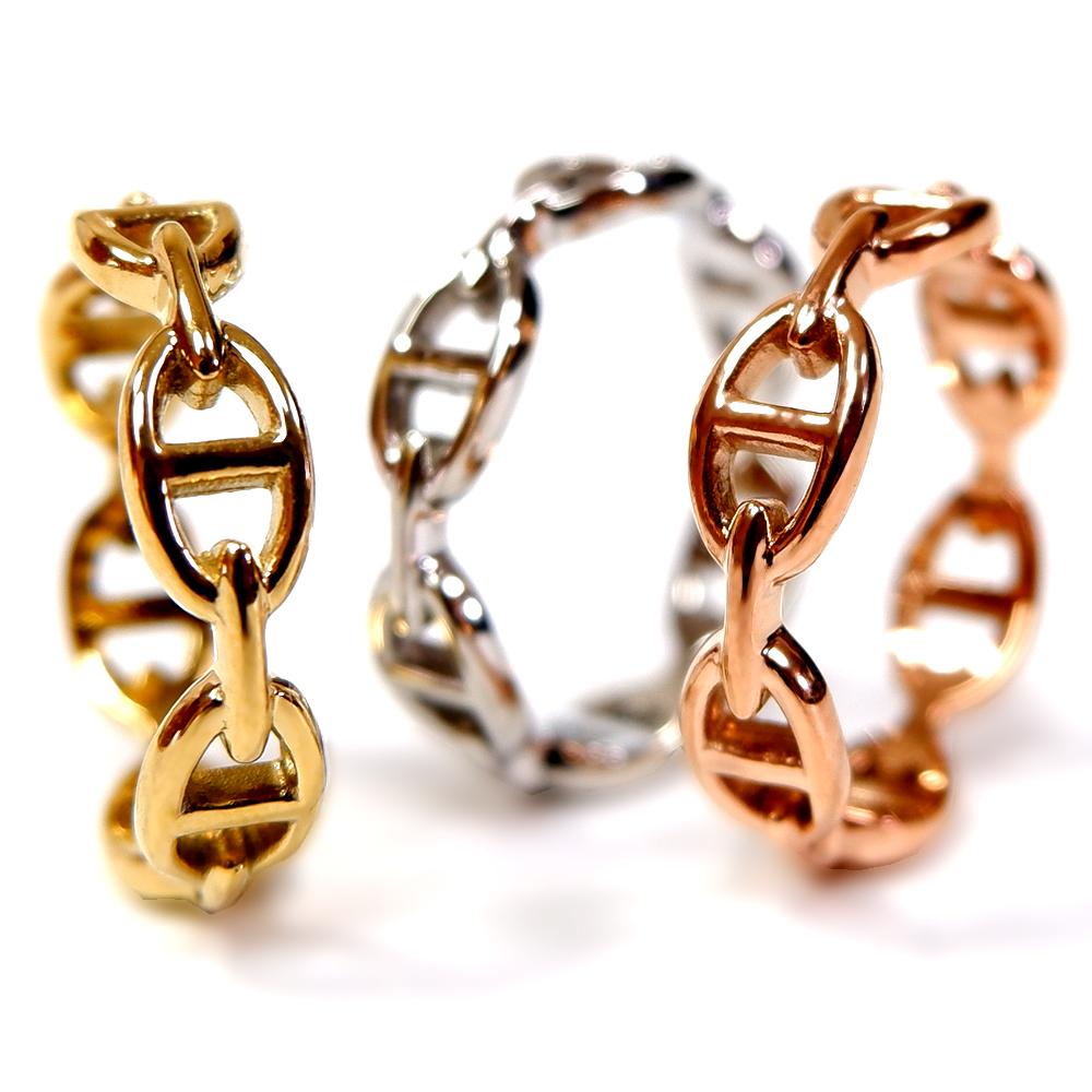 ハワイアンジュエリー リング 指輪 スクロール ウェーブ ステンレス インスタ sale