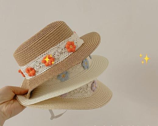 夏 キャップ   ハット 子供 帽子 可愛い 日焼け止め 麦わら帽子