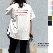 【追加生産】【2021新作】バックカラーロゴプリントTシャツ