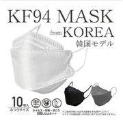KF94不織布マスク 大人マスク 男女兼用マスク  使い捨てマスク4層保護 春夏冷感マスク