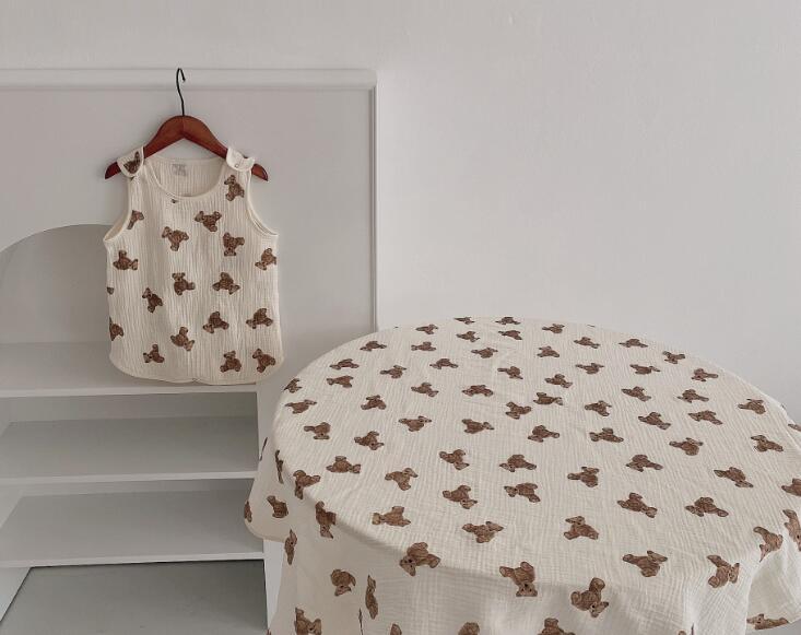 2021春夏新作 子供用 寝袋&ケット 2タイプ 可愛い クマ ベビー キッズ