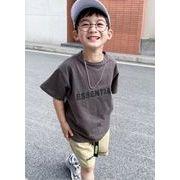 子供シャツ キッズ服 夏 ブラウス  半袖 トップス 5色 90-160  男の子 tシャツ カジュアル系