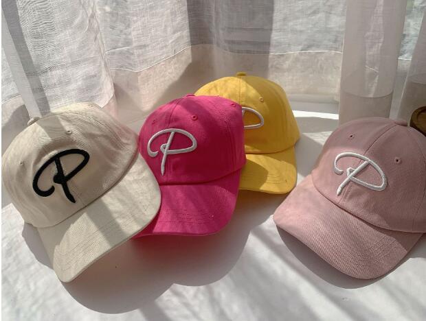 帽子 キャップ 野球帽 キッズ 子ども かわいい 夏 個性 P字 日焼け止め 刺繍 トレンド 人気