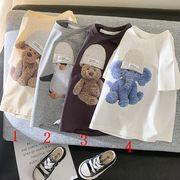2021新作 韓国子供服  ベビー服  キッズ服  Tシャツ 半袖  男の子 女の子  夏服  可愛い