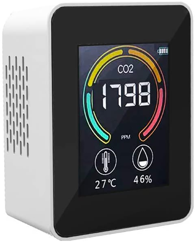 CO2濃度測定器 エアーモニター4 ホワイト 二酸化炭素濃度 温度 湿度 コンパクト