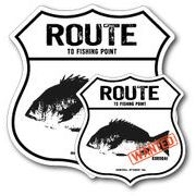 釣りステッカー クロダイ 黒鯛 Aタイプ 2枚セット FS026 フィッシング ステッカー 釣り グッズ