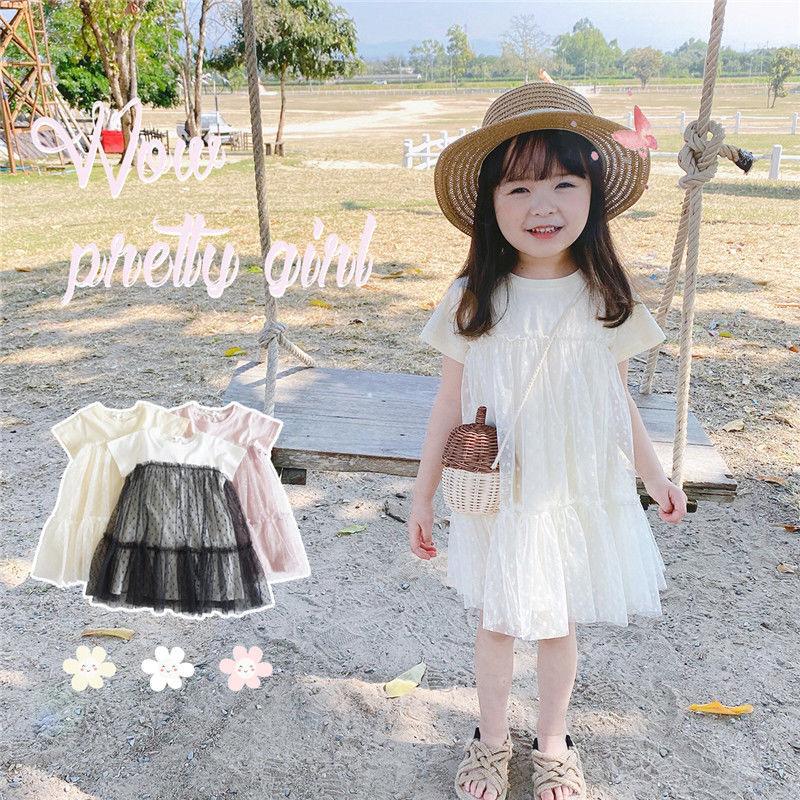 【KID】2021年春夏新作 子供服 ベビー服 チュールワンピース 可愛い 韓国風
