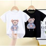 2021新作  韓国風  おしゃれ  ラウンドネック  Tシャツ   ゆったり  子供服  半袖  上着