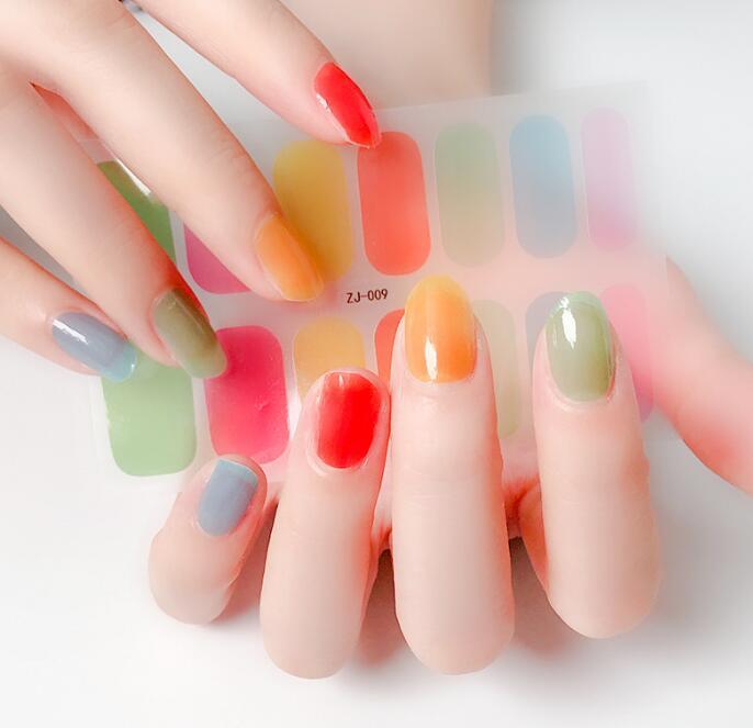 全36色★夏にぴったり★ジェルネイルステッカー 貼るだけ グラデーション色