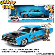1:24 LOONEY TUNES  1970 Plymouth Road w/WILE E COYOTE 【ルーニーテューンズ】ミニカー