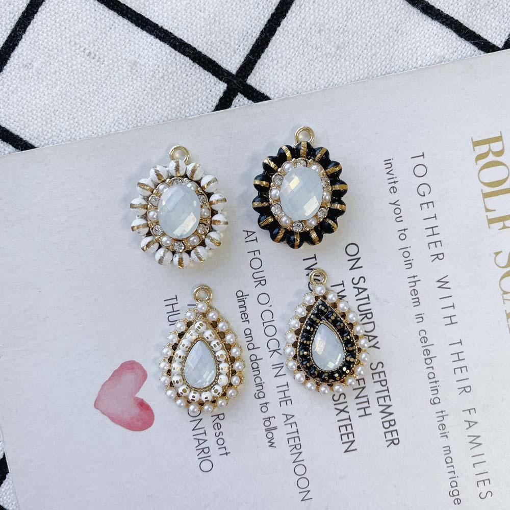アクセサリーパーツ エキゾチックチャーム パーツ 宝石 ダイヤカット ビジューチャーム 金属 材料