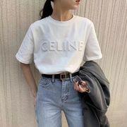 2021 新作 Tシャツ レディース 韓国風 半袖 立体 刺繍 INS オシャレ 全4色