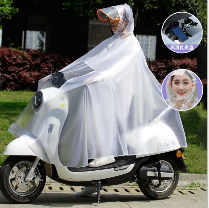 レインポンチョ レインウェア 雨合羽 カッパ レインコート レイングッズ 雨具 大きいつばの自転車用