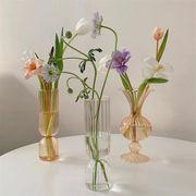 超人気 ins話題  ストライプ 家庭 花瓶 クリア 調理器具 ロマンティック クリエイティブ ハイエンド