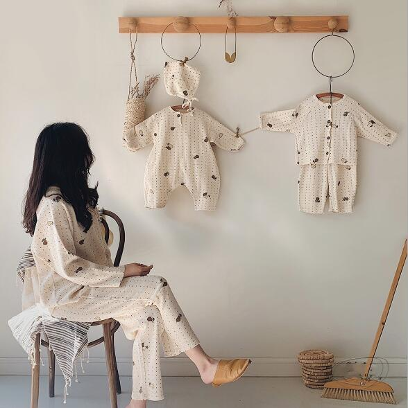韓国風子供服 ベビー服 ルームウェア 長袖ロンパース&帽子セット Tシャツ&パンツセット ホームウェア