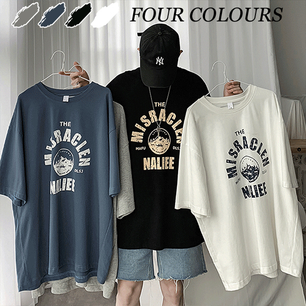メンズトップス Tシャツ 半袖 カジュアル 大きいサイズ ストリート系☆全3色