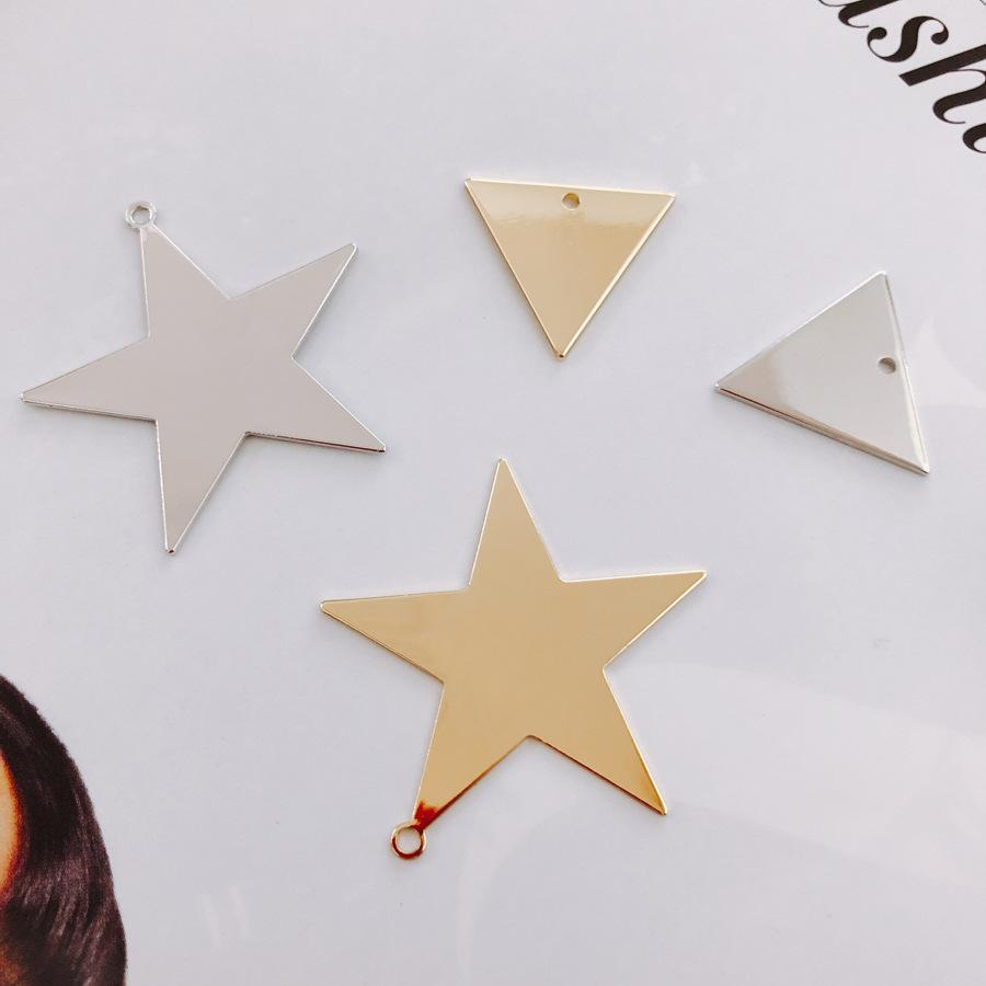 ハンドメイド材料 メタルプレート スター 星 穴あり メタルパーツ アクセサリーパーツ デコパーツ ピアス