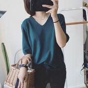 気質★Tシャツ 半袖 レディース 夏Tシャツ ゆったり 半袖Tシャツ カットソー サマーTシャツ カジュアル