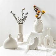 2021新品 フラワーベース 一輪挿し 花瓶 陶器 北欧 韓国 モダン 無地 アート インテリア 雑貨