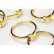リング台指輪/指輪/グルー台座/基礎金具/ハンドメイド指輪パーツ/蝶々の指輪/トレンドパーツ