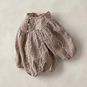 2021年夏新作 子供服 キッズ ベビー服 韓国風 ロンパース オールインワン 長袖 2色66-90