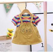 かわいい★韓国風★超人気★子供服 夏 ポロシャツ 子供 半袖スカート カジュアル かわいいスカート