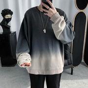 ユニセックス 長袖Tシャツ カジュアル 大きいサイズ 男女兼用  秋服 ★全2色