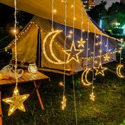 ins LED カーテン?ライト 満天の五角星 ラマダンデー クリスマス 結婚式の飾り付け イルミネーション串