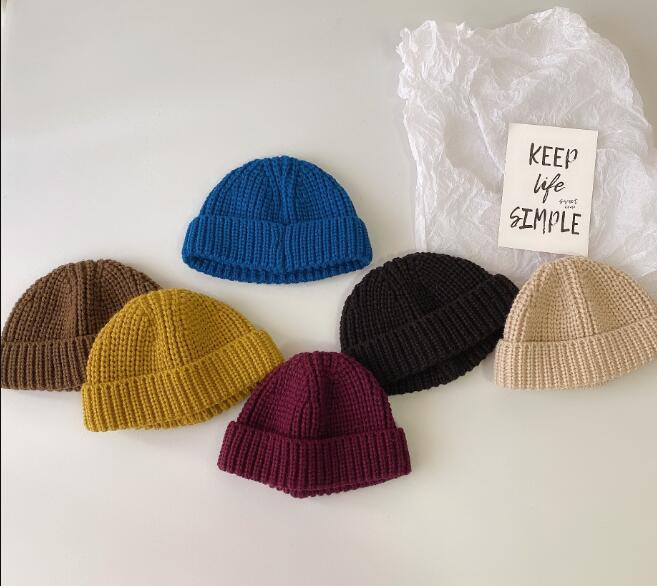 子供ハット 冬 キッズ 帽子 男女兼用 ニット帽 6色 ベレー帽