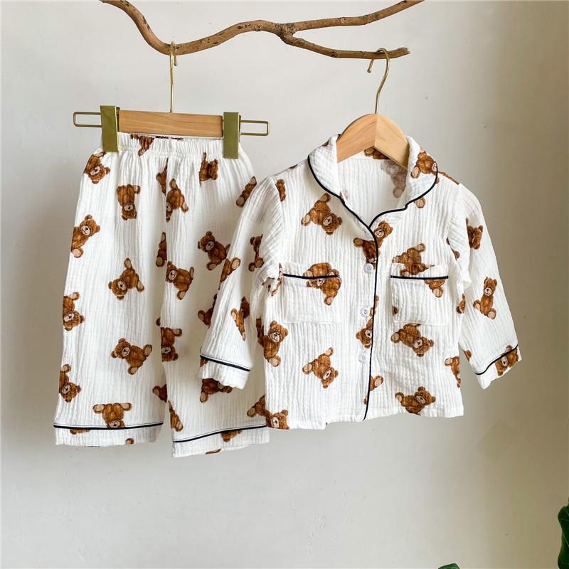 2021秋冬新作 韓国子供服 トップス+パンツセット 女の子 男の子 可愛いクマ キッズ ベビー