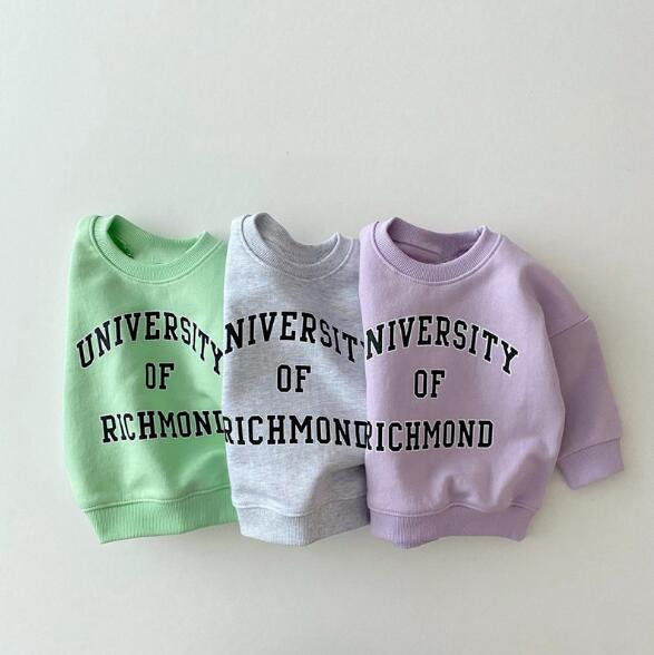 キッズ 秋 新作 ファッション 子供服 パーカー 英字 3色 Tシャツ カジュアル系