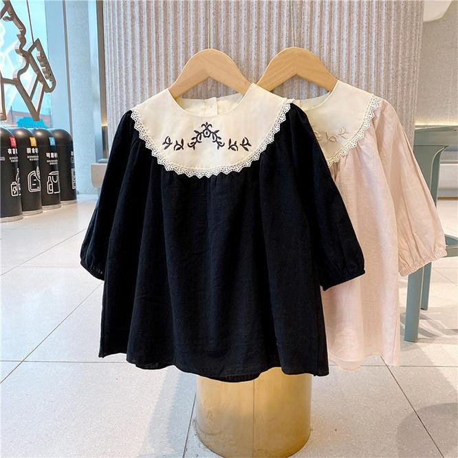 韓国風子供服 韓国ファッション 可愛い 女の子ドレス 刺繍ワンピース プリンセスドレス