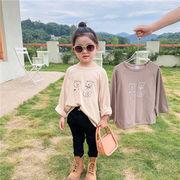 韓国風子供服 韓国ファッション 可愛い クマ シンプル 秋服