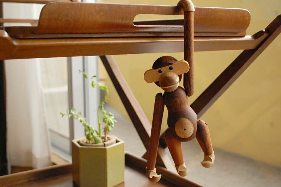 カイ・ボイスン モンキー 送料無料(小)Kay Bojesen Monkey リプロダクト品 (チーク材) 木製玩具 置物