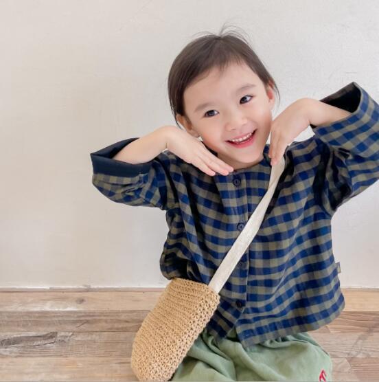 韓国 韓国ファッション 韓国子供服  長袖 シャツ 子供服 トップス アウター 2021秋冬新作