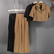 活気に満ちた少女! 韓国ファッション スーツ 2点セット 韓国版 ファッション 小さな香り 気質 セット