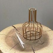 秋冬アイアン × ガラス 一輪挿し フラワーベース 花瓶 XJA370